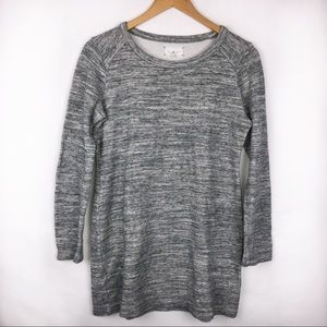 Lou & Grey Long Sleeve Oversize Spacedye Sweater